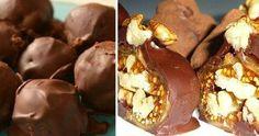 1) Ингредиенты: курага — 5 шт грецкий орех — 5 шт мед — 1/2 ст ложки молоко — 1 ст ложка горький шоколад — 70-90 гр какао, кунжут...