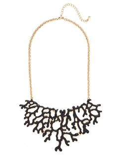 Inspired by a freshly picked piece of frond coral, this glossy enamel drenched bib is the quintessential topper to any summer look.