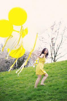 big balloon engagement goodness; Hong Photography Studio