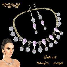 *N@N@* Secondlife Jewelry: Lili & cute set