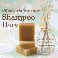 Homemade Sudsy Shampoo Bars