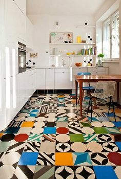 Renovation Inspiration: Colorful Tile Floors
