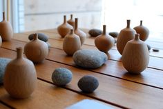 WOOD VASES BY CRATE