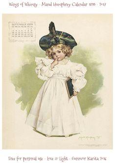 Wings of Whimsy: Maud Humphrey Calendar 1899