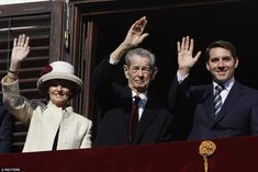 Romania's former King Michael (C), accompanied by his daughter Princess Margareta and his nephew Prince Nicolae, waves during a ceremony celebrating both his birthday in 2013 Michael I Of Romania, Head Of State, Prince Charles, King Queen, World War Two, Respect, Beautiful People, Daughter, Home