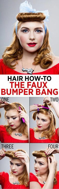 How to do a fake fringe #HairGrowthShampoo 1940s Hairstyles Short, Black Girl Short Hairstyles, Cute Girls Hairstyles, Braided Hairstyles Updo, Fringe Hairstyles, Down Hairstyles, Updo Hairstyle, School Hairstyles, Wedding Hairstyles