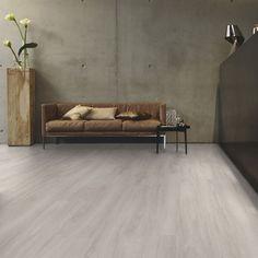 Tarkett Design Flooring iD Inspiration Click 55 Patina Ash Grey Plank Parquet Flooring, Vinyl Flooring, Natural Flooring, Light Oak, Vinyl Designs, Plank, Aluminium, Dark Grey