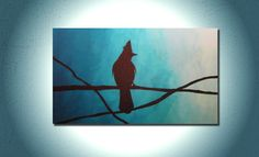 Original Acrylic Painting Fine Art  Morning by TheLaughingArcher, $110.00