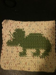 Dino Washcloth that my sister made :)