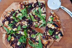 #MeatlessMonday Recipe: Pizza with Onion Confit via Eat.Live.Travel.Write