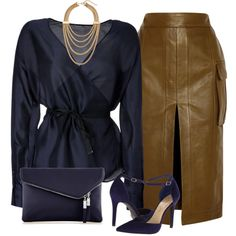 """""""Navy and leather"""""""