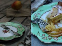 Pear Bakewell tart in the eating
