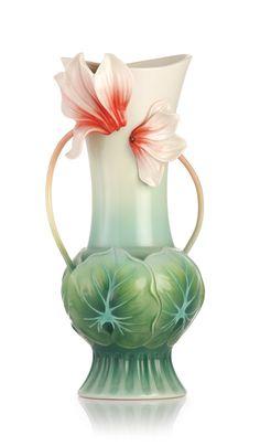 FZ03219 Franz Porcelain Dreams Come True Large Sculptured Vase Floral Design NEW | eBay
