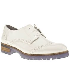 Women's White Schuh Mel Lace Brogue Cleat Patent at Schuh