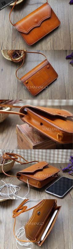 Handmade Leather phone bag shoulder bag for women leather