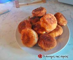 Πατατοτυροκροκέτες #sintagespareas #patatotirokroketes Gf Recipes, Other Recipes, Greek Recipes, Finger Food, French Toast, Finger Foods, Greek Food Recipes
