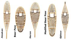 Traditional Wood Snowshoes by GV Snowshoes