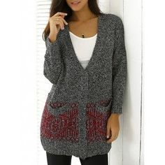 #AdoreWe #DressLily Dresslily Heathered Patterned Jacquard Knitwear - AdoreWe.com