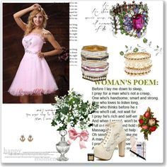 """""""2013 Strapless Baby Pink and Custom Mini-length Made For 2013 Prom Dress With Beading Organza"""" by prettydressesforyou ❤ liked on Polyvore"""