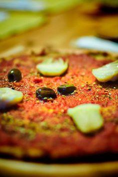 pizza di cavolfiore e farina di ceci