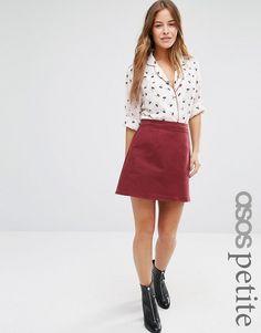 ASOS Petite | Джинсовая юбка-трапеция ASOS PETITE