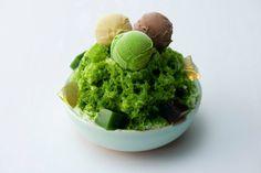 Japanese Green Tea #Matcha Ice Cream with fruit parfait by GionTsujiri SaryoTsujiri (祇園辻利)