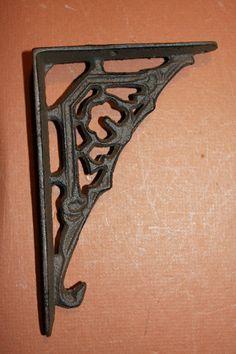 "4x 8.3/"" Heavy Duty Cast Iron Antique Shelf Bracket Black Shelves Wall Decor"