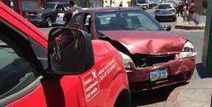 Defraudador protagoniza persecución y choca auto