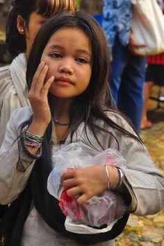 Baduy girl, Java, Indonesia