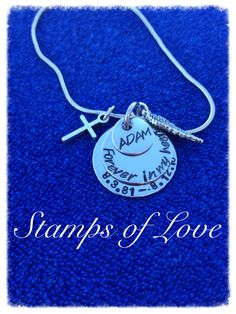 Grief necklace R.I.P Angie http://www.stampsoflove.com