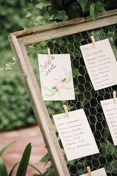 chicken wire seating chart | Courtney Stockton