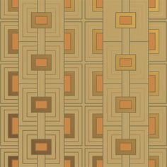 Frank Lloyd Wright® Design Collection Wallpaper | Rhythm in 3D