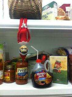 elf on a shelf ideas! going to start the tradition this year...yes, even though vinny won't understand yet!