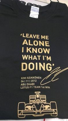 "Kimi Raikkonen sends ""leave me alone"" t-shirts to Lotus colleagues"