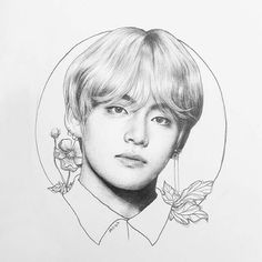 Taehyung fanart (not mine uwu) Taehyung Fanart, Bts Taehyung, Bts Jungkook, Kpop Drawings, Art Drawings Sketches, Kpop Anime, Sketches Of Love, Face Pictures, Fan Art