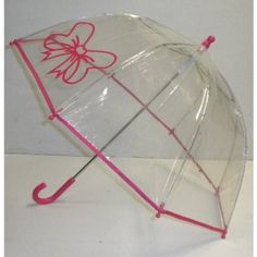Pluie Pluie Pink Bow Bubble Umbrella. Available @ www.let-it-rain.com