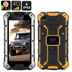 Conquest S6 Pro Rugged Phone (Silver Yellow)