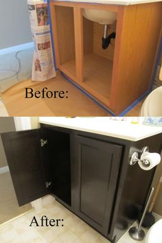 Bathroom Cabinets, Before And After Bathroom Remodel Design With Nice ... BathroomMakeoversSouthBend.com