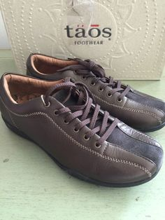 d9ca78037c1 Taos Stealth Leather Sneakers Womans Brown Espresso Suede sz 7 M