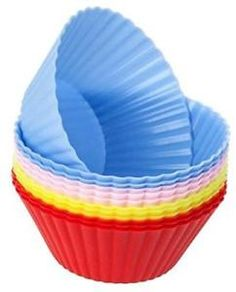 Cutequeen Trading Silicone Baking Cups / Cupcake Liners - 12-pack