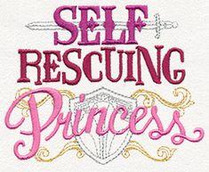 Self Rescuing Princess design (UT11626) from UrbanThreads.com