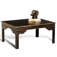 Leo English Coffee Table Powder Blk/Gold