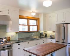 Custom butler pantry remodel with custom Woodharbor cabinets in ...