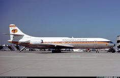 TRANSEUROPA Caravelle Sud Aviation, Jumbo Jet, Military Aircraft, Jets, Airplane, Planes, Spain, Profile, Colour