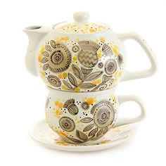 "Exclusive Handmade Porcelain Hand-Painted Tea for One Set ""Dandelions"" 11.8/8.1 Ounces ""Ella-Ceramica"" By St Elisabeth Convent - http://www.teasetsale.com/exclusive-handmade-porcelain-hand-painted-tea-for-one-set-dandelions-11-88-1-ounces-ella-ceramica-by-st-elisabeth-convent-21/ $ 89.00 Tea-For-One Sets Product Features Capacity of Teapot – 350 ml (11.8 oz) Capacity of Cup – 240 ml (8.1 oz) Art Work of Artists of St Elisabeth Convent; All products are sold"