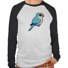 Blue Quaker Parrot Basic Long Sleeve Raglan T-Shirt