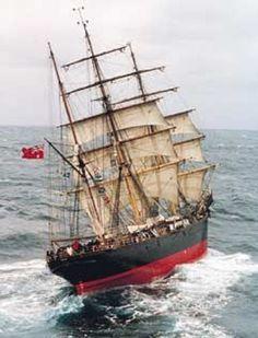 tall ship Barque James Craig, 1874.