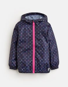Outerwear Navy Glitter Unicorn Easy And Simple To Handle Humorous Joules Fleece Lined Hooded Gilet Girls' Clothing (newborn-5t)