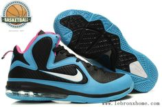 new products eb004 f8a8e Nike Lebron 9 south beach Black Blue Moon Peach 469764 004 South Beach, Blue  Moon
