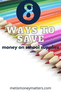 Start the school year with a little extra money in your pocket and save money with these 8 ways to save money on all the necessary back to school supplies. #savemoney #schoolsupplies #school #backtoschool Best Money Saving Tips, Money Tips, Saving Money, Save Money On Groceries, Ways To Save Money, Budgeting Finances, Budgeting Tips, Paying Back Student Loans, Show Me The Money